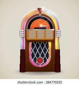 Retro design over beige background, vector illustration.