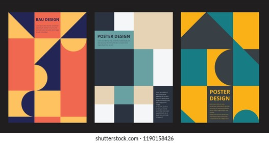 Retro Design Poster Geometric Elements. Vector Illustration Template
