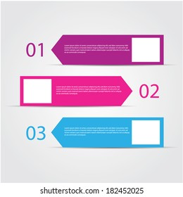 retro design template / numbered banners.