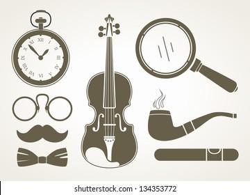 Retro detective accessories
