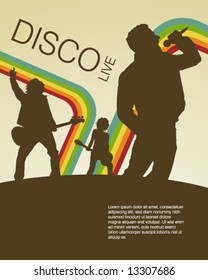 Retro Disco Music Poster