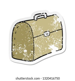 retro distressed sticker of a cartoon bag