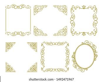 Retro and elegant decorative frame,set