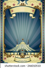 Retro entertainment circus. A vintage circus background with sunbeams for your entertainment