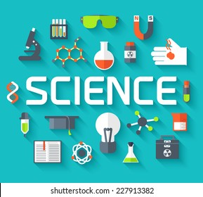 Retro experiments in a science chemistry laboratory icon concept. Vector illustration design template for web and mobile