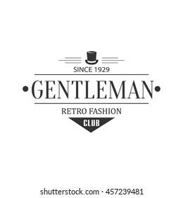 Retro Fashion Gentleman Club Label Design