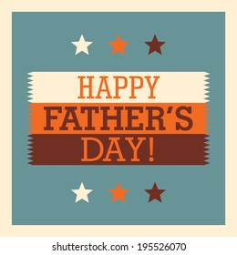 Retro father's day card. Vector illustration.
