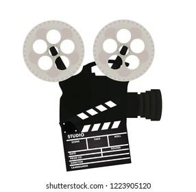 Retro film camera. vector illustration