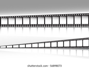 Retro film strip background  double set