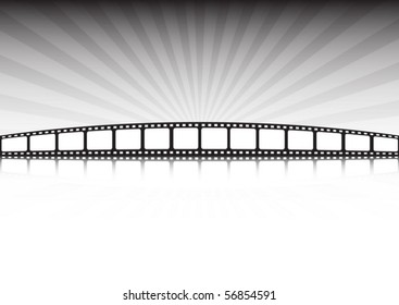 Retro film  tape vector background illustration