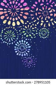Retro fireworks background