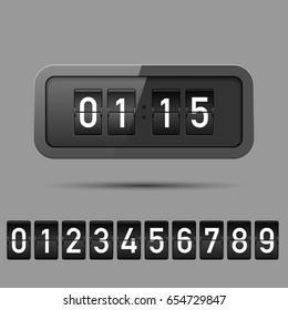 Retro flip clock.