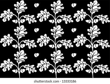 Retro floral background illustration.