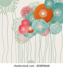 Retro flower background, eps10 vector