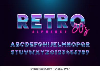 80s Neon Font Images, Stock Photos & Vectors | Shutterstock