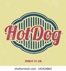 Retro Food Sign / Vintage Template