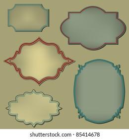 Retro frame. Set. Vector illustration