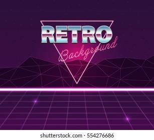 Retro future, 80s style Sci-Fi Background.