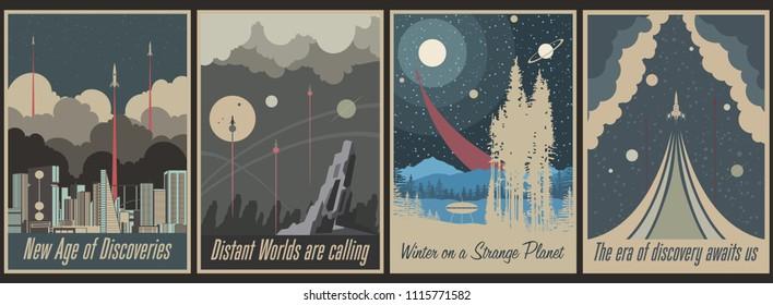 Retro Futurism Space Propaganda Posters
