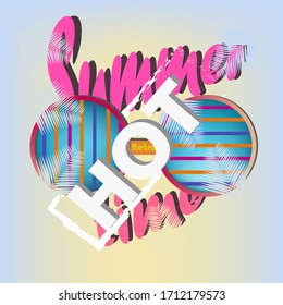 Retro futuristic background 1980s style. Retro 80s fashion Sci-Fi Background in bright neon colors. Classic 80s design vector illustration. Hot summer time