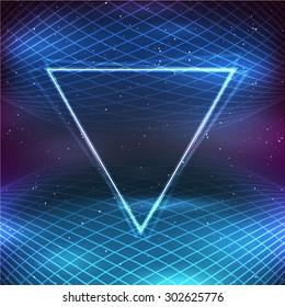 Retro Futuristic Background in 80s Posters style