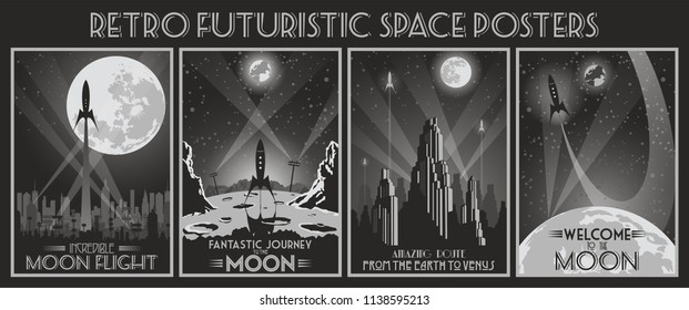 Retro Futuristic Space Poster from the Twenties