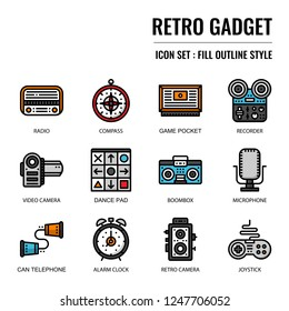 retro gadget, pixel perfect icon, isolated on white background