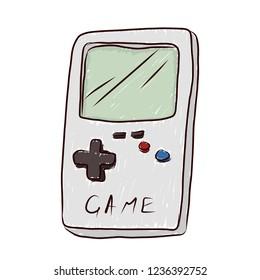 Retro Game device. Vector illustration