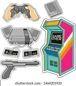 Imágenes, fotos de stock y vectores sobre Retro Coin Console Game