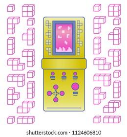retro game pattern