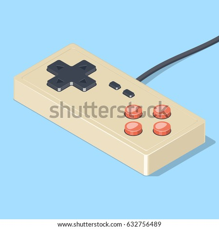 Retro Gamepad Icon Video Game Controller Stock Vector Royalty Free