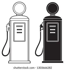 retro gasoline pump