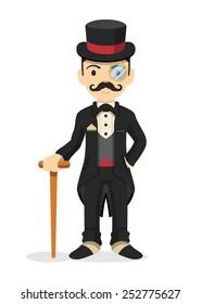 Retro gentleman. Vector illustration