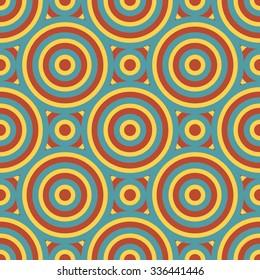 Retro Geometric Seamless Pattern Vector Illustration