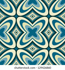 Retro Geometric Wallpaper Abstract Seamless Pattern - Vector Background