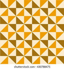 Retro, geometrical pattern with triangles. Vector art.