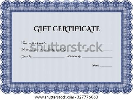 retro gift certificate border frame sophisticated design stock
