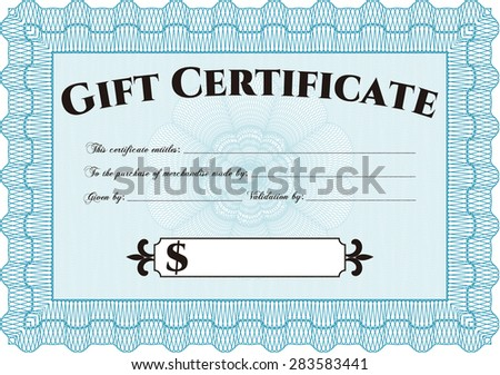 retro gift certificate excellent design complex stock vector
