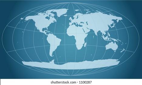 retro grid world map