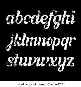 Retro grunge italic font.