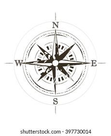 Compass Tattoo Images, Stock Photos & Vectors | Shutterstock