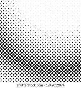 Retro halftone dot pattern background - vector illustration from circles
