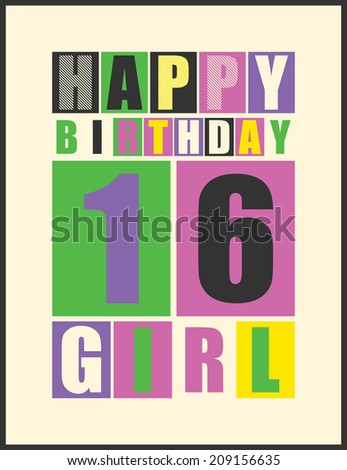 retro happy birthday card happy birthday stock vector royalty free