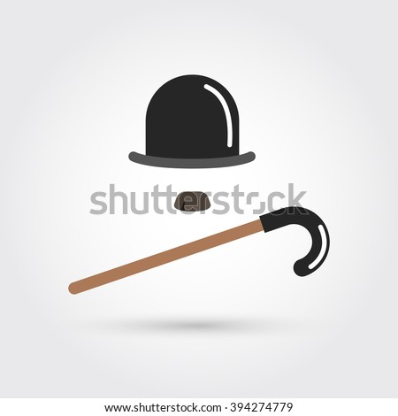 retro hatcane and moustache