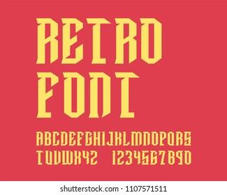 Retro Hipster font set
