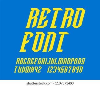 Retro Hipster font set italic