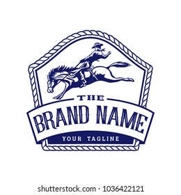 Retro Horse Rodeo Logo Template