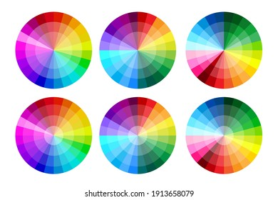 Retro icon with round color palettes. Button on soft light backdrop. Vector icon. Stock image. EPS 10.