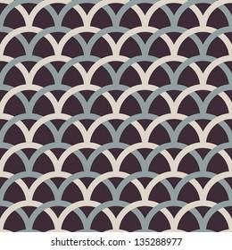 Retro interlacing seamless pattern. Vector background.