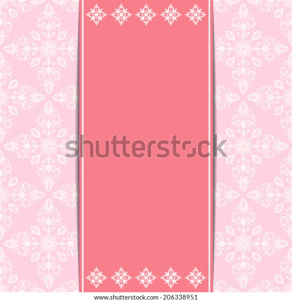 Retro Invitation Card Vector Template Floral Stock Vector